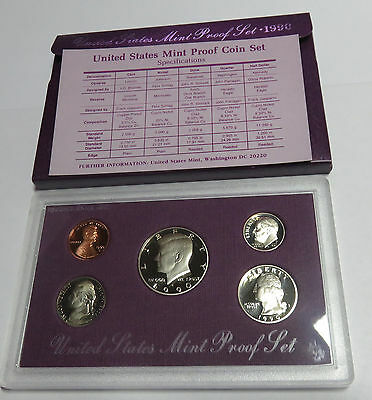 Usa America United States Kms Coinset Proof Set 1990 1 Dime - Half Dollar S Pp
