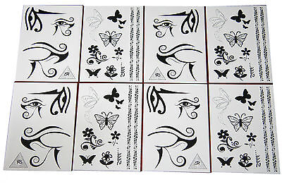 36 x Body Rock Face & Body Tattoo | 2 designs | Wholesale