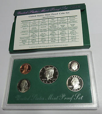 Usa America United States Kms Coinset Proof Set 1995 1 Dime - Half Dollar S Pp