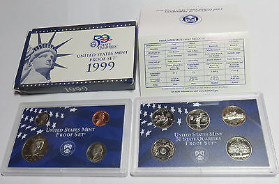 Usa America United States Kms Coinset Proof Set 1999 Inkl. State Quarters S Pp