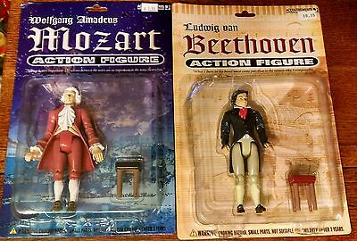 Mozart, Beethoven, Bach Figures In Original Pakcages -- 2005