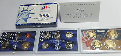 Usa America United States Kms Coinset Proof Set 2008 Quarters Präsidenten Dollar