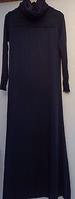 Lareine By Lawung Abayah Long Black Polo Neck Dress. Small
