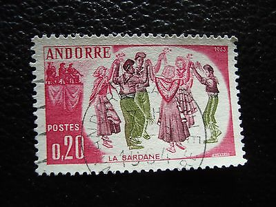 ANDORRE (francais) - timbre yvert et tellier n° 166 obl (A30) stamp andorra