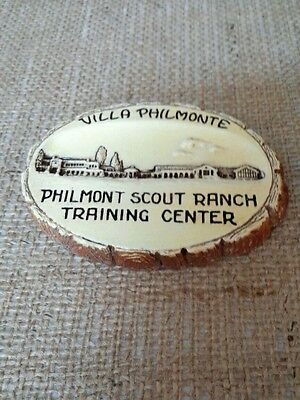 Vintage Boy Scout Wall Hanging Philmont Scout Ranch Training Center Plaque