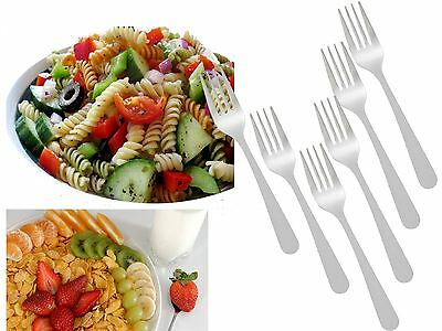 Set of 6 Stainless Steel Forks For Salad,Dessert,Fruit,Snacks,Cake Tableware