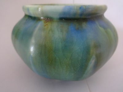 1930's George Clews Chameleon-Ware small pot.