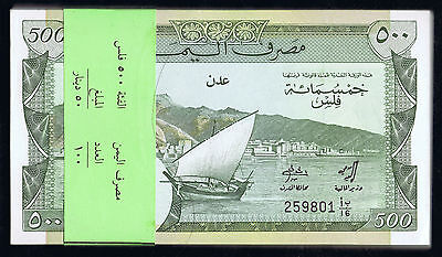 BANK of YEMEN PDR 500 FILS P # 6 of 1984 FULL CONSECUTIVE BANDED UNC PACK of 100