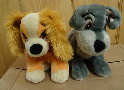 Disney Store Lady and the Tramp soft toy plush
