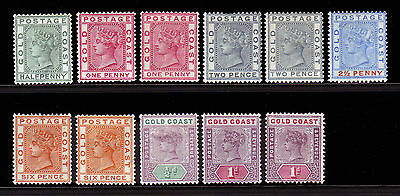 Gold Coast. Mounted Mint Selection.