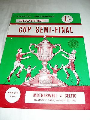 1964-65 SCOTTISH CUP S/F – MOTHERWELL v CELTIC