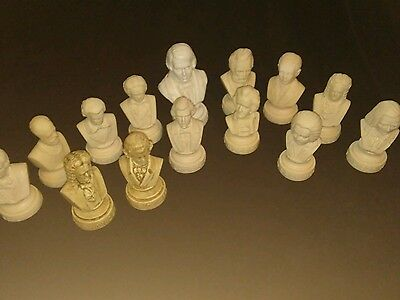 14 Music Composer Bust Figure Characters Lot plastic