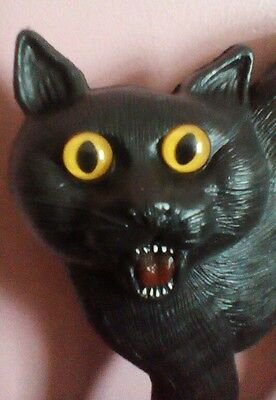"""17-1/2"""" Black Cat Blow Mold Union Products Don Featherstone Halloween Vintage"""