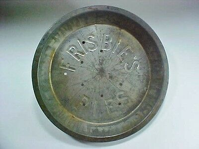 "Vintage ""FRISBIE'S PIES"" Tin Pie  Plate 12 Holes Frisbee"