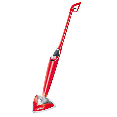 Hot Spray Cordless Steam Mop Degree Lightweight Floor Cleaner Microfibre Pad Red