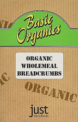 Just Wholefoods Basic Organics Wholemeal Breadcrumbs 175 g Pack of 6