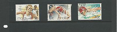 Malta ( Olympic Games ) 1992 Barcelona Set of 3 stamps used