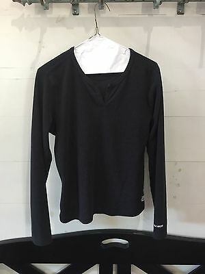 Womens The North Face Pull Over Black Stripe