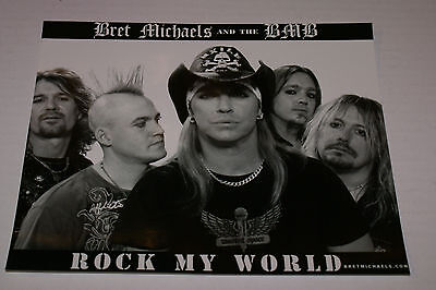 Bret Michaels 8x10 Celebrity & BMB Promo Picture ROCK MY WORLD RARE OOP HTF