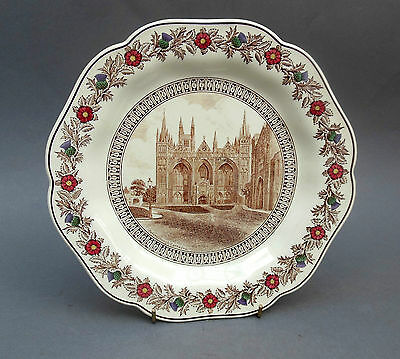 1930's Wedgwood L.N.E.R. Cathedral Series Dessert PLATE ~ Peterborough