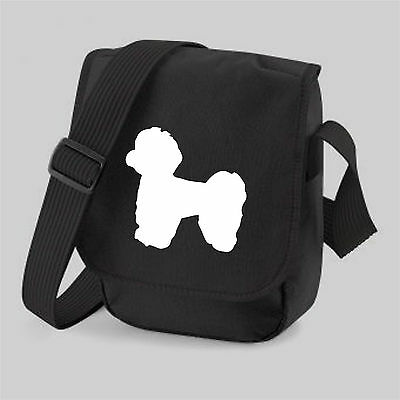 Maltese Dog Bag Silhouette Messenger Shoulder Bags Birthday Xmas Gift