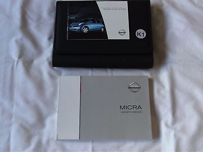 NISSAN MICRA  2003-2007 (K12) Owners Manual Handbook With Wallet.