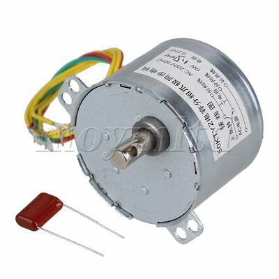 1.5RPM AC220V Gear Motor Synchronous Electric Motor Silver