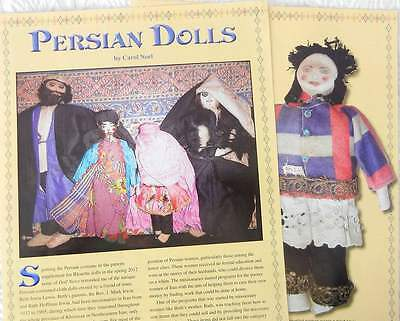 8p History Article & Pictures  - VTG Persian Cloth Dolls