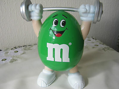 """M&m M&ms Happy Green 7"""" Weightlifter"""