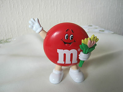 """M&m M&ms Happy 3"""" Red Round With Flowers"""