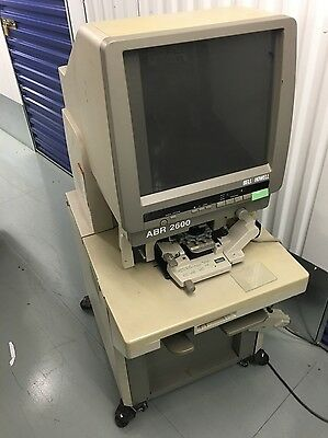 Bell & Howell Microfilm Slide Film Microfiche Reader Printer System ABR 2600 UK