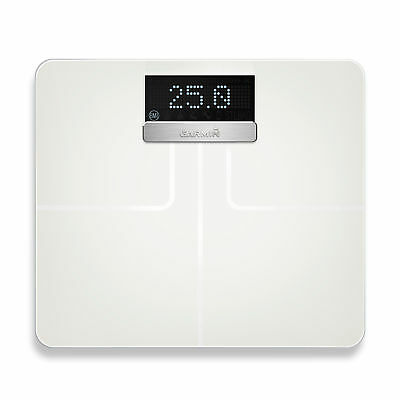 Garmin Index Smart Scale Wi-Fi Enabled with BMI and Muscle Mass Tracking White