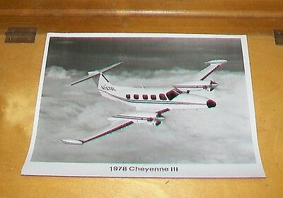 Piper Cheyenne I 1978 Piper Aircraft Official Press Photograph
