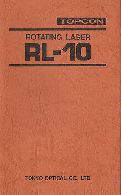 New Topcon Rotating Laser RL-10 Instruction Manual