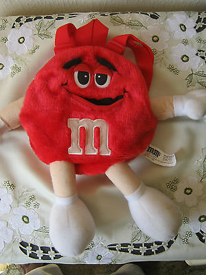 M&m M&ms Happy Red Plush Backpack
