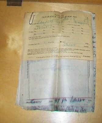 Santa Fe Clearance Card Forms & Train Order Carbon Copies Feb 13/14 1946