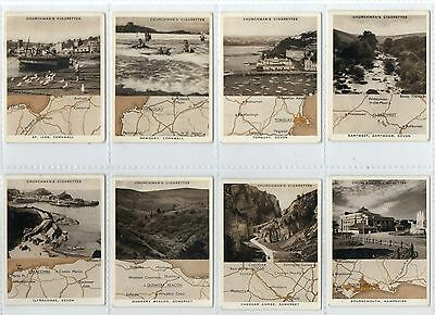 'holidays In Britain'  (Maps) Full Set  Issued By Churchman  In 1937  Vg .
