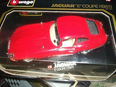 Jaguar 'e' Type  Coupe  Model  Car, Diecast.  1/18Th Scale.    New By Burago
