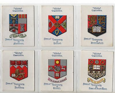 Arms Of  Universities'  .  Full Set  Issued By Wills In 1923  Vg To Ex..   .
