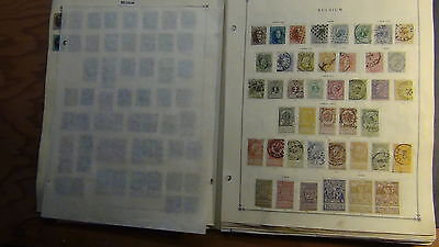 Belgium stamp collection on Scott International  pages to '83