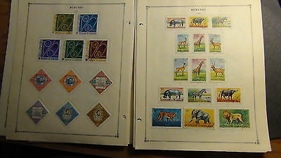 Burundi  stamp collection on Scott International  pages to '80s or so