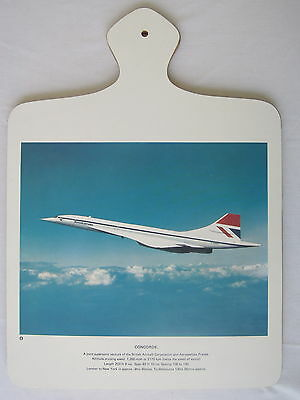 Concorde British Aircraft Cutting Board Wall Hanging