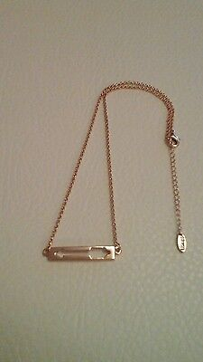 Arrow necklace - new - rose gold coloured