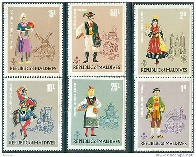 Maldive Islands 1972 National Custumes of the World MNH