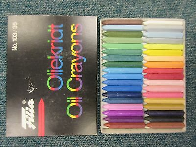 Filia Oil Crayons Artists Drawing Chalks Pastels - Box Set of 12 or 36 Colours