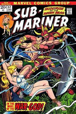 Sub-Mariner (1968 series) #57 in Near Mint - condition. FREE bag/board
