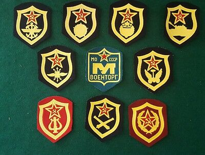 "Lot Of 10 Vintage Soviet Military  (Ussr, Russian) Military Patches ""felt"""