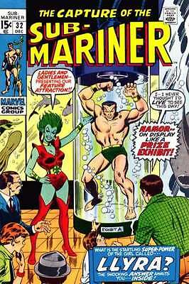 Sub-Mariner (1968 series) #32 in Very Fine condition. FREE bag/board
