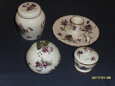 Collection of Vintage Hammersley Bone China 'Victorian Violets'