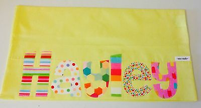 Personalised Gift Children's Appliqued Pillowcase Yellow